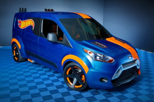 2014-ford-transit-connect-hot-wheels-concept-front-side-view